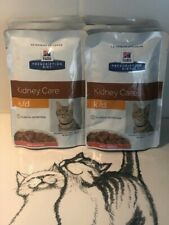 Hill's Prescription Diet Feline k/d Kidney Care, wet cat food- salmon 6 x85g
