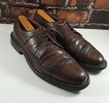 NUNN-BUSH Men Burgundy Leather Lace-Up Wingtip Dress Oxford Shoes (9 B) IRELAND