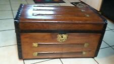 1800's Antique Stagecoach Steamer Trunk Chest
