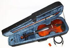 4/4 E-Geige E-Violine mit Tonabnehmer und EQ inkl Bogen und Koffer