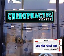 LED Sign CHIROPRACTIC Center window sign 48x12 Neon Banner alternative LED