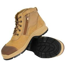 Blundstone Leather Steel Toe Side Zip Safety Work Boots 318 Wheat-Special