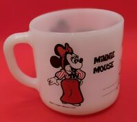 Vintage Fire King Anchor Hocking Disney Mickey Minnie Coffee Mug Cup