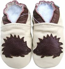 carozoo hedgehog cream 6-12m new soft sole  leather baby shoes