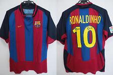 2003-2004 FC Barcelona Barca FCB Jersey Shirt Camiseta Home Nike Ronaldinho 10 L
