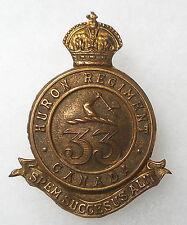 CANADIAN MILITIA.33rd HURON REGIMENT CAP BADGE.Circa.1904