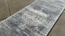 Hallway Runner grey rustic design Thick Quality Modern (Assorted Lengths)