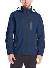 NWT HAWKE & CO. Men's NAVY Waterproof  Hood Rain/ Golf Jacket SizeXL