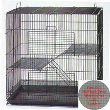 "24"" Small Animal Cage for Chinchilla Ferret Sugar Glider - 701 Black"