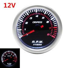 Universal 2'' 52MM Car Digital LED Tachometer Tacho Gauge Meter Pointer RPM 1Pcs