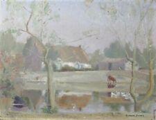 Florent SICHET (1918-2014) Paysage Vendée Bretagne Nantes Noirmoutier poitevin