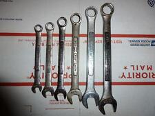 Set of six Craftsman Combination wrenches. 3/8-11/16 SAE Wrench