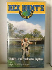 REX HUNTS FISHING WORLD ~ TROUT - THE FRESHWATER FIGHTERS ~ RARE VHS VIDEO