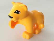 NEW* Lego Duplo Bright Light Orange LION CUB Raised Paw