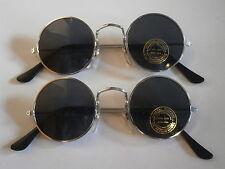 2er Set Sonnenbrillen im 70er Style Hippie Goa Gothic Brille Retro 70s Stil Nr.2
