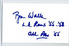 Ron Waller signed autographed Auto 3 x5 card with Football Stats