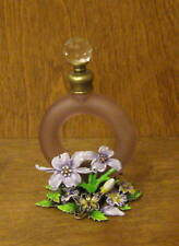 """Enameled Perfume Bottle PB949 BUTTERFLY, 4.7"""" NEW/Box Welforth From Retail Store"""