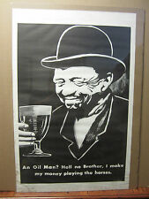 vintage black and white poster the Gambler 703