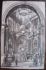 BIBIENA, Giuseppe Galli da (1696-1757). Gravure originale tirée de Architecture,