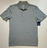 George Mens Gray Polo S/S Work Golf Button Shirt XS S M L XL 2XL 3XL NWT FAST
