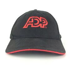 ADP Payroll Services Logo Black Baseball Cap Hat Adjustable Fits Most Cotton
