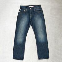 Mens LEVIS 514 Jeans Size W30 L30 Slim fit Straight Leg Dark blue denim Trousers