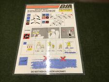 safety card bia british island bae 1 11 400