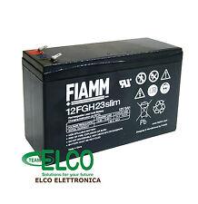 Fiamm 12FGH23slim Batteria al piombo 12V 5Ah compatibile cartuccia APC RBC106