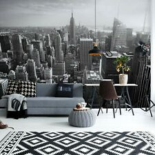 Bedroom paper wallpaper 368x254cm wall mural Black & White New York City skyline