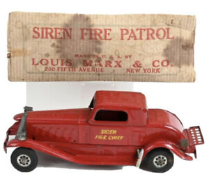 Antique Marx Siren Fire Chief Car