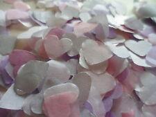 4000 Silver Lilac Pink & White Tissue Hearts/Wedding Confetti Decoration