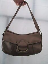 Avenue Faux Pebbled Leather Brown Vegan PVC Purse Shoulder Handbag