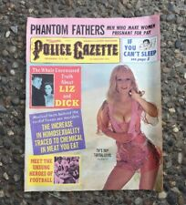 Police Gazette Magazine Dec. 1973 Homosexuality Phantom Fathers Liz & Dick