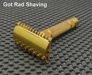 Vintage 1930's Gillette NEW Short Comb 3 Piece DE Safety Razor Clean!