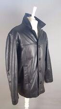 Iron Side IRONSIDE Black Genuine 100% Leather Black Mens Jacket size M Medium