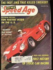 Speed Age Magazine November 1956 Ten Fastest Rods VG w/ML 011117jhe