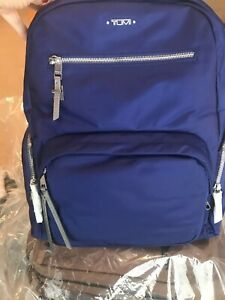 NEW TUMI CARSON VOYAGEUR BACKPACK  BLUE   SILVER