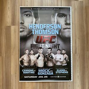 "UFC FIGHT NIGHT ON FOX 10 MMA Event Poster Benson Henderson Josh Thomson 40""x28"""