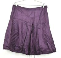 Banana Republic Skirt Women's Tie Front Purple Casual Career Evening Size 14