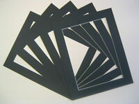 Pack Of 10 BLACK Photo Picture Mount Frame Mounts All Sizes A3 A4 New