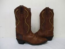 Justin Brown Leather Cowboy Boots Womens Size 7 C Style L4936