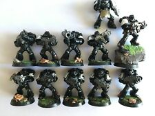 WARHAMMER 40K BLACK TEMPLARS SPACE MARINES x11 Painted Assembled