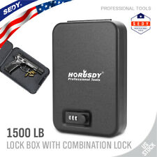 "Digit Combination Key Security Case Lock Box 9.5"" 4ft Cable Jewelry Cash Gun H-Q"
