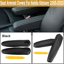 Fits For 2005-2010 Honda Odyssey Left + Right Leather Seat Armrest Covers Black