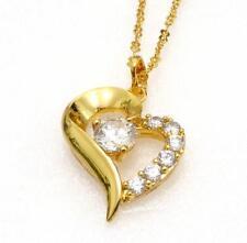 Gelbgold beschichtete Modeschmuck-Anhänger mit Herz-Schliffform