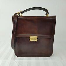 UNISEX Damen Herren Leder Handtasche Tasche shopper Blogger Bag Cognac braun