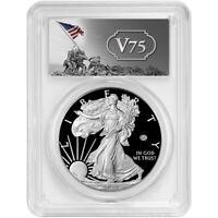 Presale - 2020-W Proof $1 American Silver Eagle WWII 75th PCGS PR70DCAM FS V75 L