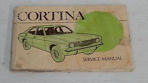 FORD CORTINA MK3 III TC SERVICE MANUAL MAINTENANCE SCHEDULE BOOK GENUINE NOS