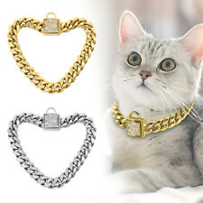 Luxury Rhinestone Cat Chain Collars Heavy Duty Small Dogs Necklace Choke Collars