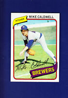 Mike Caldwell 1980 TOPPS Baseball #515 (NM+) Milwaukee Brewers